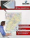 BACHER Postleitzahlenkarte Baden-Württemberg, Maßstab 1:250 000, Papierkarte gerollt, folienbeschichtet und beleistet: Die Postleitzahlenkarte ... Ortsteile mit der Sterndarstellung.