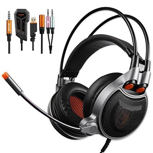 Sades SA-929 Gaming Kopfhörer Mit Einem Tastendruck Ein 7.1.-Surround-Sound Separate Lautstärkeregelung USB 3.5MM Buchse Stereo Mit MIC Für PC/PS4/Neu XBOX One Mic Remote-accs