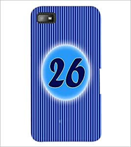 PrintDhaba Numerology Number 26 D-2584 Back Case Cover for BLACKBERRY Z10 (Multi-Coloured)