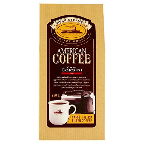 Caffè Corsini Caffè Macinato Americano - 250 gr - Confezione da 6