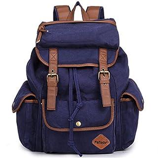 a9aaf0c4be61e Fafada Rucksack Canvas Vintage Damen Mädchen Leder Retro Laptop backpack  Schulrucksack Daypack für Campus Studenten und