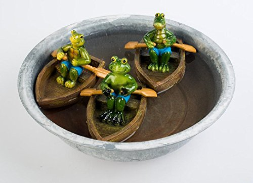Formano 722249 Figuren im Boot 3sort. 1 St. 16cm schwimmende Teich - oder Pool-Figuren aus glänzendem Kunststein aufwendig von Künstlerhand gestaltet und bemalt