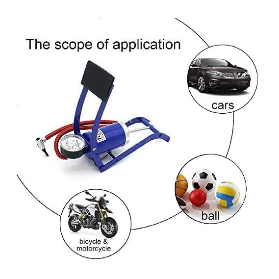 KBF Foot Pump New Imported Air Pressure Foot Pump for Car, Bike Bicycle,air Foot Pump for car and Bike with Gauge,air Foot Pump for Bicycle,air Foot Pump for car,air Pump for car and Bike
