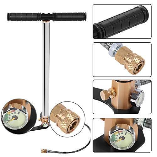 Pumpe ,Edelstahl Handpumpe mit CNC-Technologie Hoher Druck steigt auf 4500 psi,Für PCP Pistolen/Gewehre/Air Guns/Automobil Reifen/Motorrad Reifen/Fahrrad
