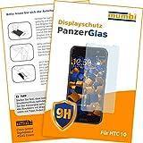 mumbi Panzerglasfolie HTC 10 Glasfolie Hartglas 9H (bewusst kleiner als das Display, da dieses gewölbt ist)