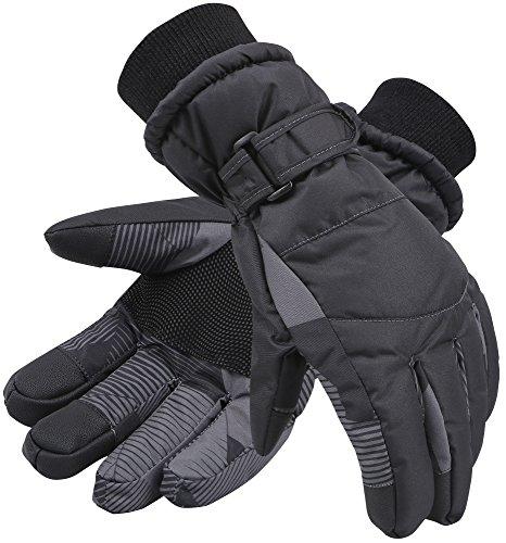Livingston Damen Schneehandschuhe, Thinsulate Baumwolle, wasserdicht, Touchscreen, Damen, Black Digital, Medium (Galaxy Snowboard Handschuhe)