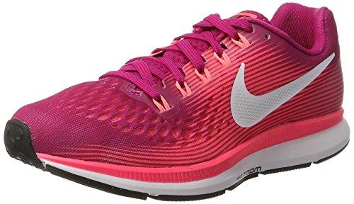 Nike Wmns Air Zoom Pegasus 34, Zapatos para Correr para Mujer, Rosa (Fuchsia Sport/Rouge Gris Lave Brillant/Rose Coureur/Blanc), 37.5 EU