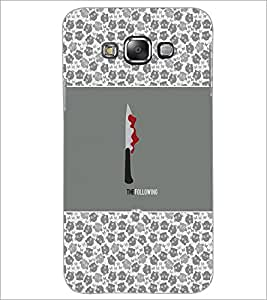 PrintDhaba Knife D-5716 Back Case Cover for SAMSUNG GALAXY E7 (Multi-Coloured)