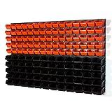 141 tlg Wandregal Lagerregal InBox Gr.1, 2 orange schwarz Regal Werkstatt Platte