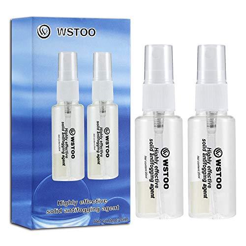 Wstoo - Pulverizador antivaho para máscaras de buceo, gafas de natación, gafas espejo de esquí, textura sólida y eficiente, 2-Bottled