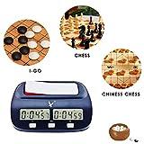 Peedeu - Reloj de ajedrez portátil con Temporizador de ajedrez Digital con función de Alarma, Temporizador de Juego de ajedrez con Bono y retardo
