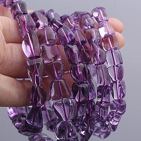 OUYANG Bracciale di ametista Uruguay naturale , about 10 mm bead diameter