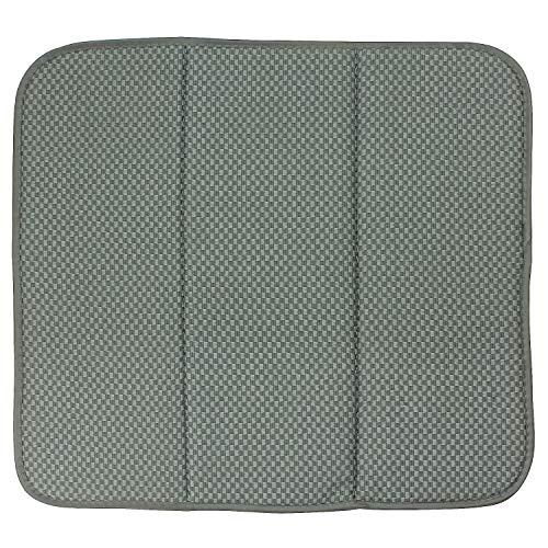 MACOSA SP1161_1 Moderne Abtropfmatte Mikrofaser | Grau | Selbsttrocknend | Für Gläser & Geschirr | Geschirr-Matten | Abtropf-Ablage Spüle | (Grau)