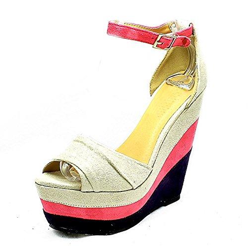 Chaussures À Semelles Compensées Superposées Pour Femmes Beige