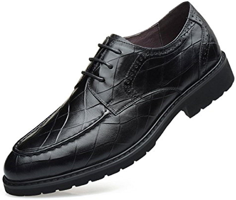 LEDLFIE Zapatos Casuales De Negocios Zapatos Casuales Británicos Vestido Negro Zapatos De Cuero Hombres -