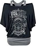 Volbeat Old Letters T-Shirt schwarz/grau L