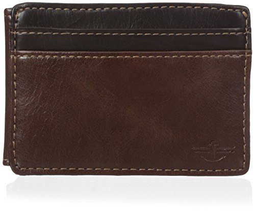 dockers-mens-roswell-slim-front-pocket-wallet-with-money-clip-brown-one-size
