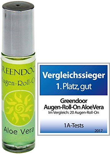 Greendoor Augen-Roll-On Aloe Vera 10ml, vegane Augenpflege aus der Naturkosmetik Manufaktur, Augenpflegeöl gegen Augenfältchen / Augenserum