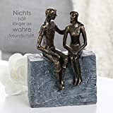 Skulptur Gute Freunde H23 Polyresin Casablanca