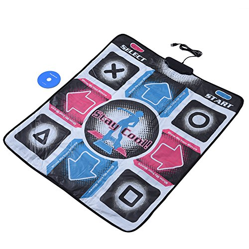Richer-R USB-Tanzmatte Basic Dance Pad, Rutschfeste Durable Verschleißfeste Tanzschritt Dance Mat,PlayDance Edition Tanzmatte Spielmatte Musikmatte Pad mit USB für PC Windows 98/2000/XP/7 usw. -