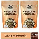 True Elements Antioxidant Mix Seeds - Roasted Sunflower, Pumpkin and Flax Seeds Watermelon, Chia & Goji Berries, 250g (125g Pack of 2)