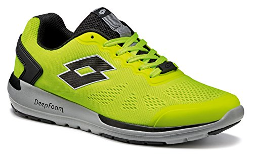 Lotto Scarpe da Corsa Uomo Giallo Yellow Safety/Black, Giallo (Yellow Safety/Black), 47 EU