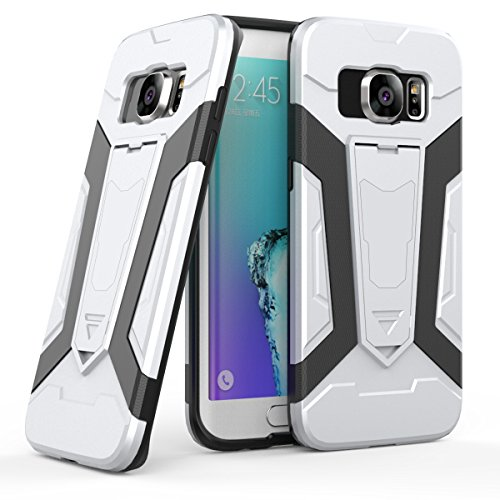 Custodia Samsung Galaxy Note 8 , Gray Plaid Rugged Dual Layer Hybrid Full-body Protective Back Shockproof Armour Phone Case with Kickstand Function per Samsung Galaxy Note 8 - Oro Argento