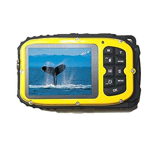 PYRUS Gapo G051 Caméras LCD 2,7 pouces Appareil photo numérique MP 16 caméra étanche 10 m à l'eau + 8x Zoom (Jaune)