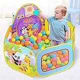 kigins Spielzelt, Bällebad Ball Pool Pop up Zelt Kinder Spielzelt, Laufstall Faltbare Ball Pit Bällepool für 1-3 Jährige Baby Kinder im Indoor Outdoor(Nicht Enthalten Bälle)
