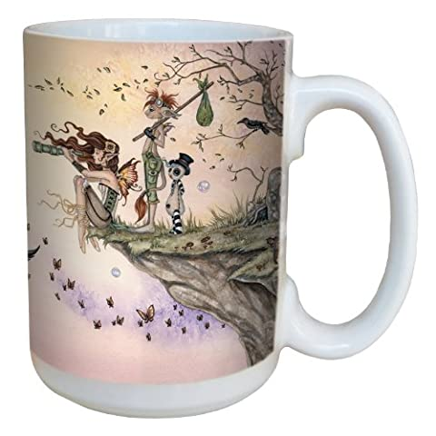 Tree-Free Greetings lm43566 15 oz Fantasy Where the Wind Takes You Fairy Ceramic Mug with Full Sized