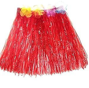 eventos escolares: JUNGEN Falda de Hierba de Hula de Niños Falda de Hierba Hawaiana para Ropa de Ba...