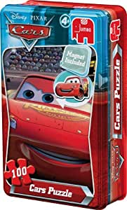 Disney Pixar Cars 100 Piece Puzzle in a Tin with Free Disney Pixar Cars Magnet