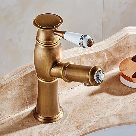 Modylee nuevo jale hacia fuera antiguo cocina grifo Crystal+ cobre níquel cepillado cocina mezclador de lavabo mezcladores grifos baño grifo Q992 ,