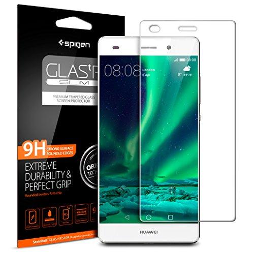 Protector cristal templado Huawei P8 Lite, SPIGEN® **Easy Install Kit