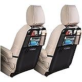 2er Pack Auto Organizer Anhängematte, Auto Organizertaschen, Wasserfester Autositz Rückenschutz mit iPad / Tablethalterung von YOOFAN