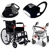 Rollstuhllampe / 2x 7-LED-weiß in Schwarz-Silikon Lichter/LED-Beleuchtung von Top Idee für Rollator, Rollstuhl, Gehstock/Wasserdicht / Qualitätsarbeit