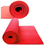 Yogi Fitness Mats,Red Coloured 4mm Thick,For Men/Women / Extra Large Size