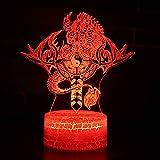 Ocho diagramas tema del tótem del dragón Lámpara 3D LED luz nocturna 7 Cambio de color Táctil Lámpara de humor Regalo creativo Decoraciones de oficina en el hogar