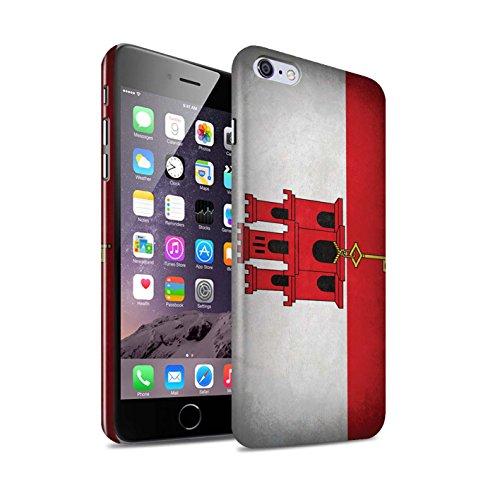 STUFF4 Glanz Snap-On Hülle / Case für Apple iPhone X/10 / Griechenland/Griechisch Muster / Flagge Kollektion Gibraltar