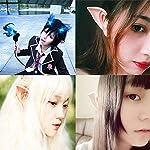 2 Paar Latex-Elfenohren, Cosplay, Fee, Pixie, Elfenohren, Halloween, Party, Kostüm, Zubehör Elfen, Vampir, Kobold, Ohren…