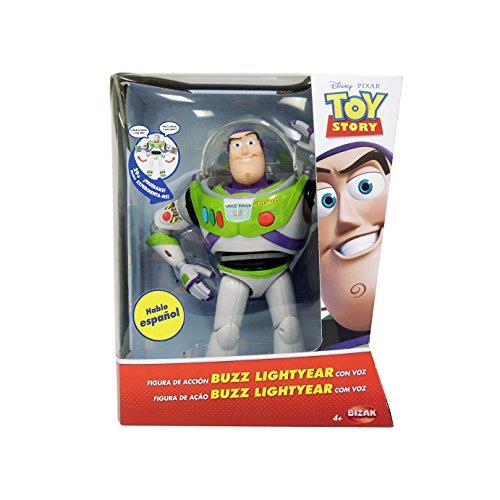 Toy Story - Figura de Buzz Lightyear, articulada con voz en español (Bizak 6123407)