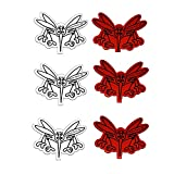 Fliegengitter Reperatur Set Reperaturband Set Insektenschutznetz Insektengitter Fliegen Netz Gaze Gage (3er Set Weiß-Rot)
