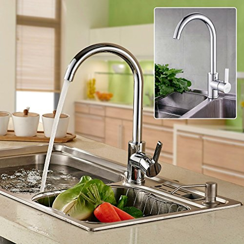 Auralum® 360° Rubinetto Bassa pressione miscelatore cascata rubinetti Cucina Rubinetti per cucina - Igienici Professionale