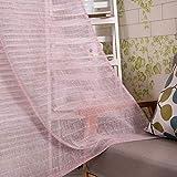 WOLTU® VH5855bd2, Gardinen transparent mit Schlaufen in Leinen Optik mit gestreift Farbverlauf Muster, Vorhang Stores Wohnzimmer Kinderzimmer Schlafzimmer, 140x245 cm, Weiß + Bordeaux, (1 Stück)