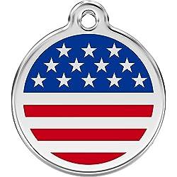 Médaille Chien RED DINGO US Bleu 30mm Taille