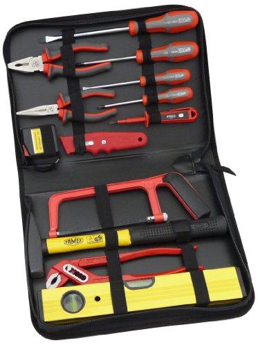 Famex Werkzeug 190-48 Tasche mit Reissverschluss, mit Set für Haushalt und Büro