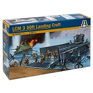 Italeri - I6436 - Maquette - Char D'assaut - Uss Lcm 3 50 Ft + Figurines