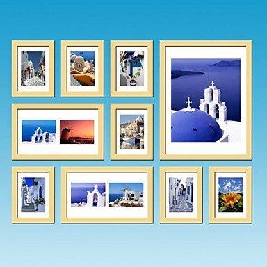 PF Frame Collection legno naturale Photo colore della parete Set di 10