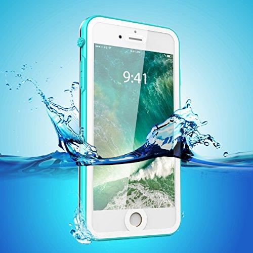 iPhone 7 Hülle Case, iThrough® Wasserdichtes Schutzhülle für iPhone 7 IP68, Wasserdichtes für iPhone 7, Staubdichte, Schneedichte, Stoßfeste, Schwerlaste Schutzhülle für iPhone 7, 4,7 Zoll mit Touch-I Blau-1