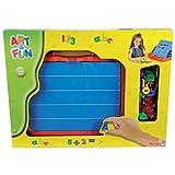 Simba Art&Fun Magnettafel im Koffer 100 Teile Kindertafel Buchstaben Zahlen Kinder Spielzeug Tafel